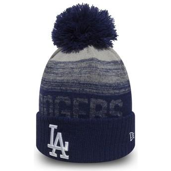 Bonnet bleu avec pompom Cuff Knit Sport Los Angeles Dodgers MLB New Era