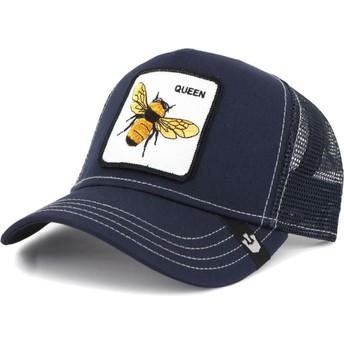 Casquette trucker bleue marine abeille Fierce Goorin Bros.