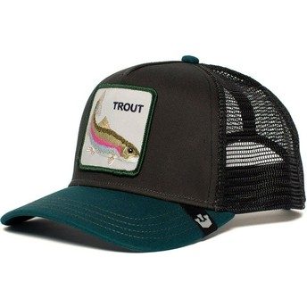 Goorin Bros. Rainbow Trout Black and Green Trucker Hat