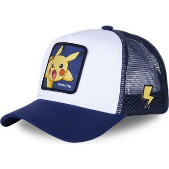 Casquette trucker blanche et bleue Pikachu PIK8 Pokémon Capslab