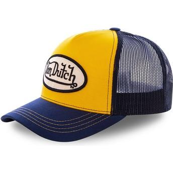 Von Dutch COL ORA Orange and Navy Blue Trucker Hat