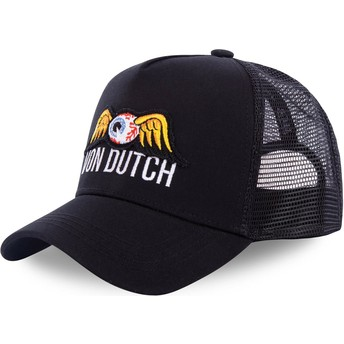 Von Dutch EYEPAT3 Black Trucker Hat