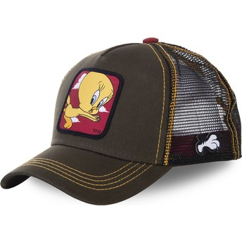 Casquette trucker verte Titi TIT2 Looney Tunes Capslab
