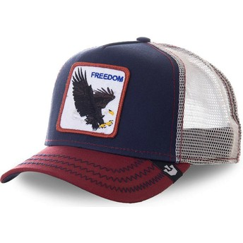 Casquette trucker bleue marine aigle Let It Ring Goorin Bros.