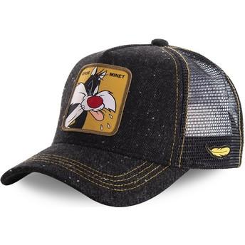 Casquette trucker noire Sylvestre LOOMIN1 Looney Tunes Capslab