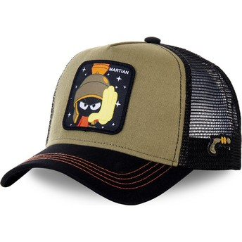 Capslab Marvin the Martian MAR2 Looney Tunes Brown and Black Trucker Hat
