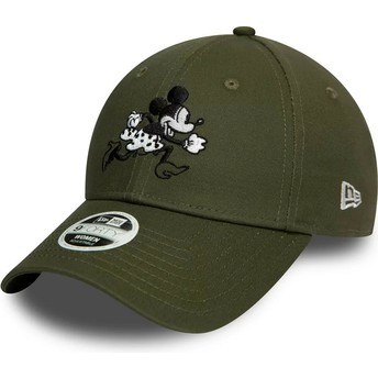 Casquette courbée verte ajustable 9FORTY Minnie Mouse Disney New Era