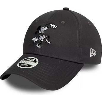 Casquette courbée grise ajustable 9FORTY Minnie Mouse Disney New Era