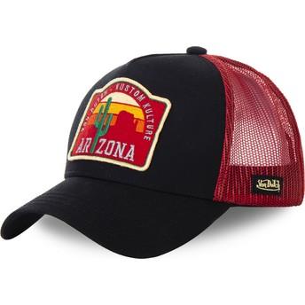 Von Dutch Arizona AZ2 Black and Red Trucker Hat