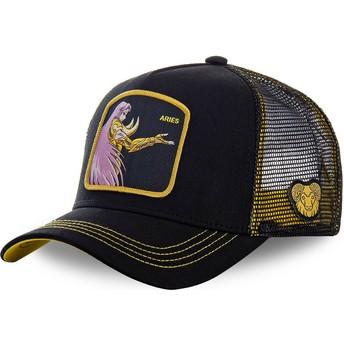 Capslab Aries ARI Saint Seiya: Knights of the Zodiac Black Trucker Hat