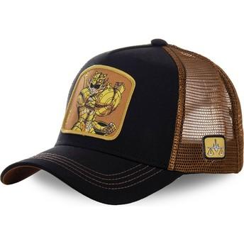 Capslab Libra LIB Saint Seiya: Knights of the Zodiac Black and Brown Trucker Hat