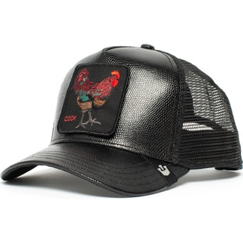 Casquette trucker noire coq Big Rooster Goorin Bros.