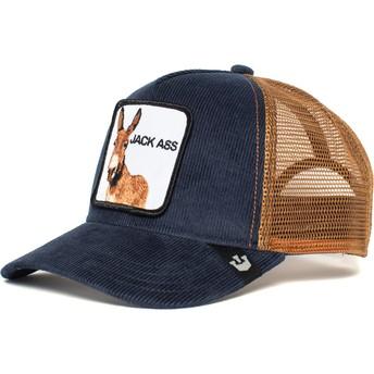 Goorin Bros. Donkey Hee Haaw Navy Blue and Brown Trucker Hat