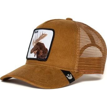 Casquette trucker marron orignal Moose Head Goorin Bros.
