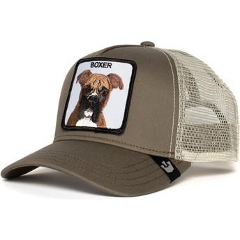 Casquette trucker grise chien Boxer Goorin Bros.
