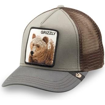 Casquette trucker verte pour enfant ours Little Grizzly Goorin Bros.