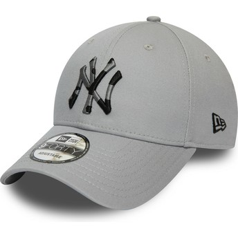 Casquette courbée grise ajustable avec logo camouflage 9FORTY Camo Infill New York Yankees MLB New Era