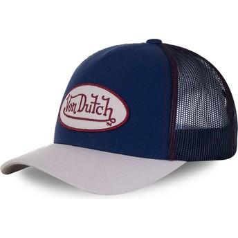 Von Dutch CRE Blue and Grey Trucker Hat