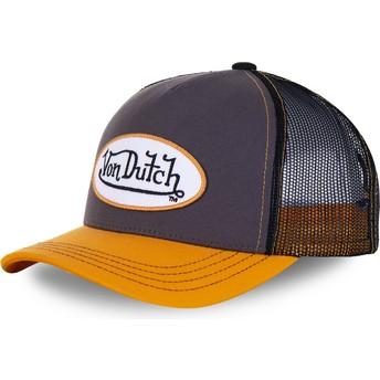 Von Dutch OGR Grey and Yellow Trucker Hat