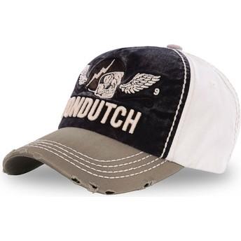 Von Dutch Curved Brim XAVIER06 Black, White and Brown Adjustable Cap