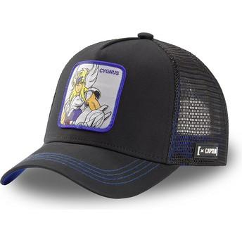 Capslab Cygnus Hyoga CYG3 Saint Seiya: Knights of the Zodiac Black Trucker Hat