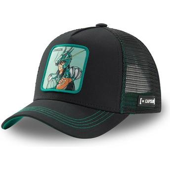 Capslab Dragon Shiryū DRA3 Saint Seiya: Knights of the Zodiac Black Trucker Hat