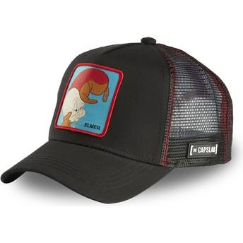 Capslab Elmer Fudd ELM2 Looney Tunes Black Trucker Hat
