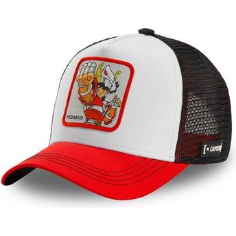 Casquette trucker blanche, noire et rouge Pégase Seiya PEG2 Saint Seiya: Les Chevaliers du Zodiaque Capslab