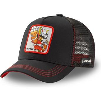 Capslab Pegasus Seiya PEG3 Saint Seiya: Knights of the Zodiac Black Trucker Hat