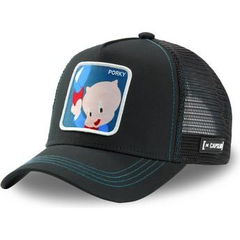 Casquette trucker noire Porky Pig POR2 Looney Tunes Capslab