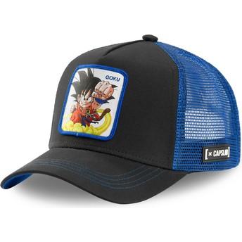 Capslab Kid Son Goku GOK4 Dragon Ball Black and Blue Trucker Hat