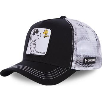 Casquette trucker noire et blanche Snoopy Joe Cool NAW1 Peanuts Capslab