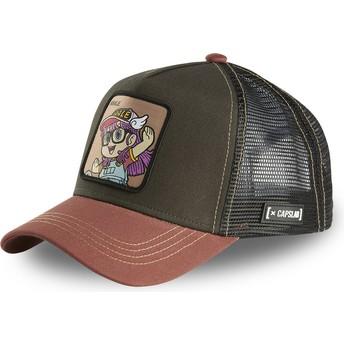 Capslab Arale Norimaki ROB1 Dr. Slump Brown and Black Trucker Hat
