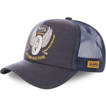 Von Dutch CREW10 Black and Blue Trucker Hat