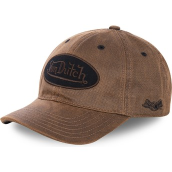 Casquette courbée marron ajustable BODM Von Dutch
