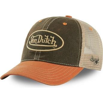 Von Dutch MAC3 Green and Orange Trucker Hat