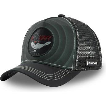 Capslab Daffy Duck Bullseye Color Rings LOO DAF2 Looney Tunes Black Trucker Hat
