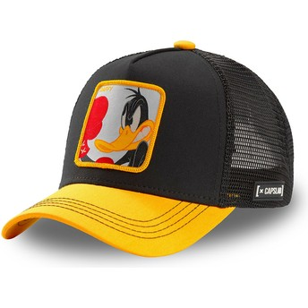 Casquette trucker noire et jaune Daffy Duck LOO DUK Looney Tunes Capslab