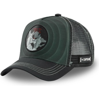 Capslab Tasmanian Devil Bullseye Color Rings LOO TAZ2 Looney Tunes Black Trucker Hat