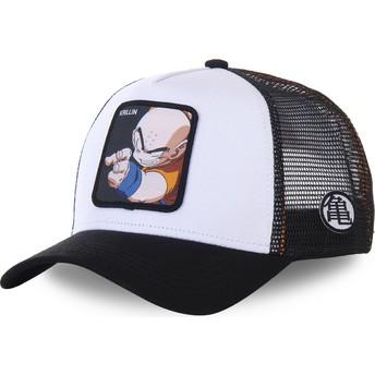 Capslab Youth Krillin KID_KRI Dragon Ball White and Black Trucker Hat