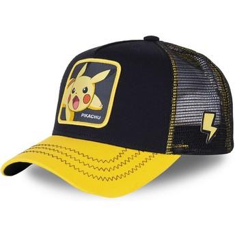 Casquette trucker noire et jaune pour enfant Pikachu KID_PIK6 Pokémon Capslab