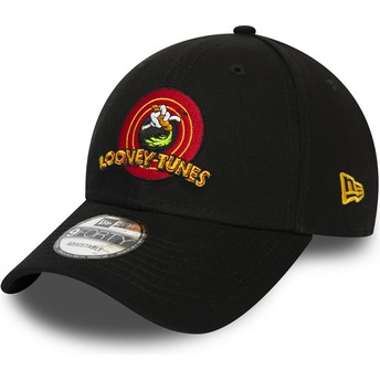 New Era Curved Brim 9FORTY Bugs Bunny Looney Tunes Chase Black Adjustable Cap