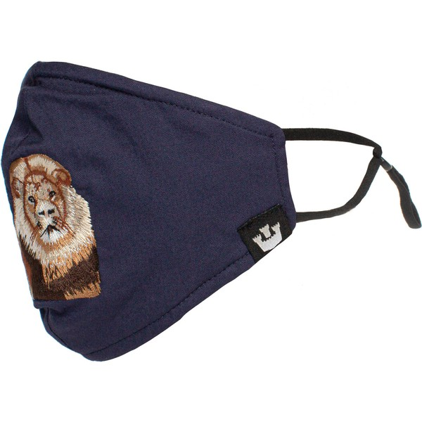 goorin-bros-lion-mane-cat-navy-blue-reusable-face-mask
