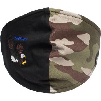 Masque réutilisable noir et camouflage aigle High Flyer Goorin Bros.