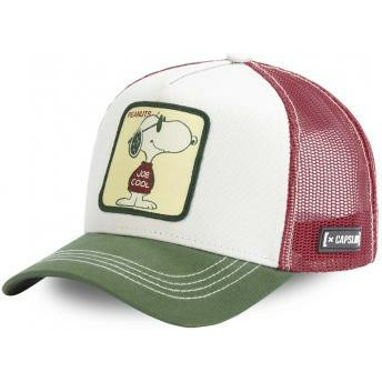 Capslab Snoopy Joe Cool JOE Peanuts White, Brown and Green Trucker Hat