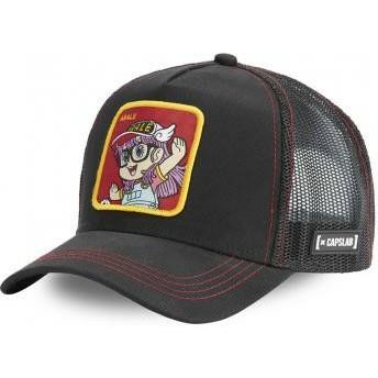 Capslab Arale Norimaki ROB2 Dr. Slump Black Trucker Hat