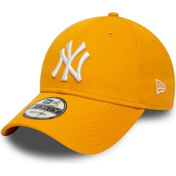 Casquette courbée jaune ajustable 9FORTY League Essential New York Yankees MLB New Era