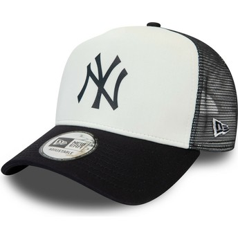 Casquette trucker blanche et bleue marine Team Colour Block A Frame New York Yankees MLB New Era