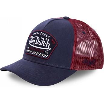 Von Dutch WEST Navy Blue and Red Trucker Hat