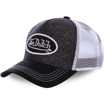 Casquette trucker noire et blanche WH2 Von Dutch